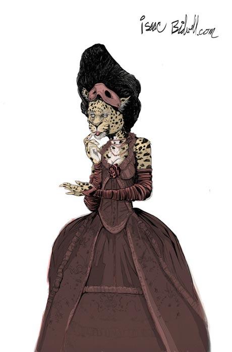 isaac bidwell leopard dress